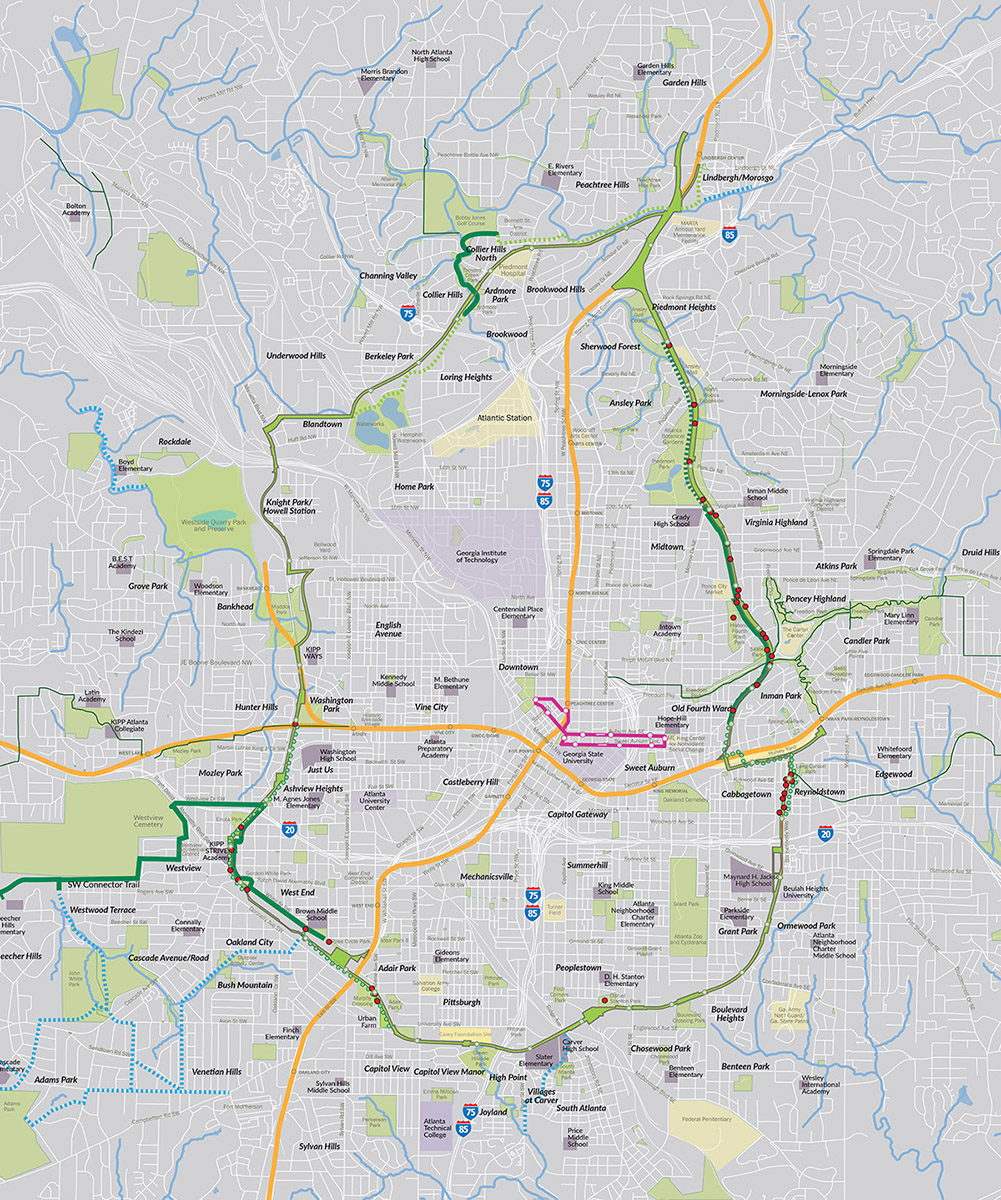 Atlanta Beltline High Line Network